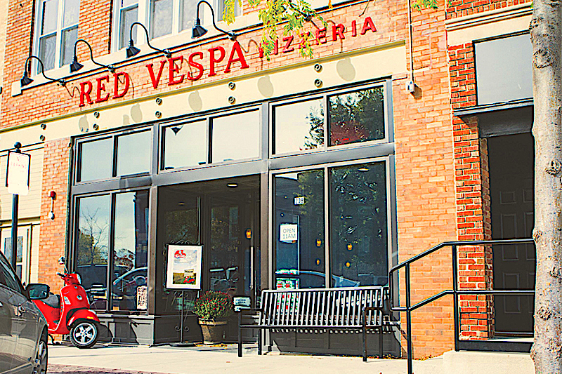 Red Vespa Pizzeria Corridor Construction Services Of Iowa City