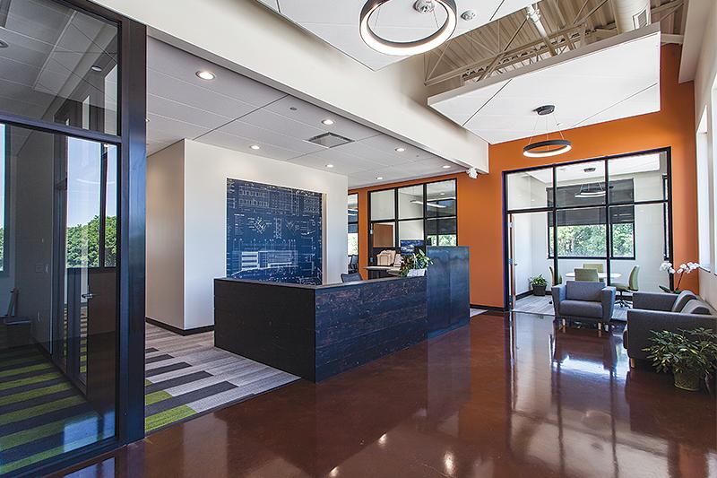 Build To Suit reception area